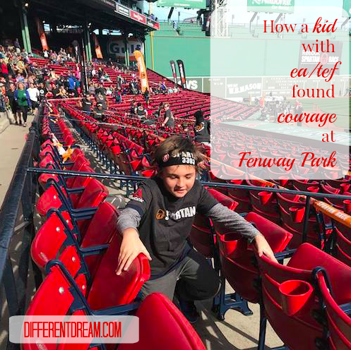 How does a kid with EA/TEF find courage for the Spartan Kids Run at Fenway Park? Lori McGahan tells her son's story in today's EA/TEF Awareness Month post.