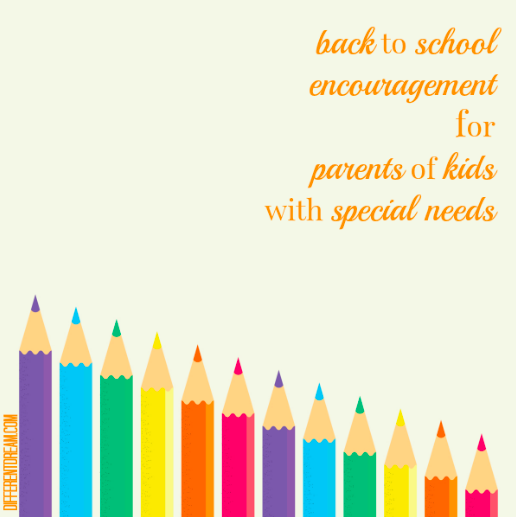 Back to school encouragement is important to parents of children with special needs. Here are 5 back to school gathered all in one place.
