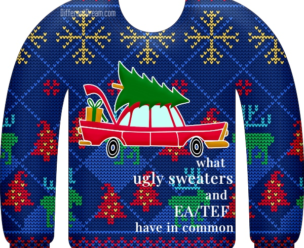 Ugly Sweater Cookie Contests and EA/TEF Memories