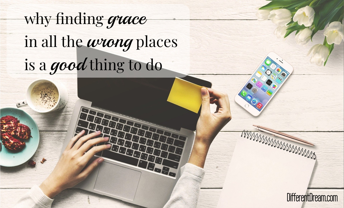 Finding grace in all the wrong places makes life better in hard situations like special needs parenting and pandemics. Here's how to do it.
