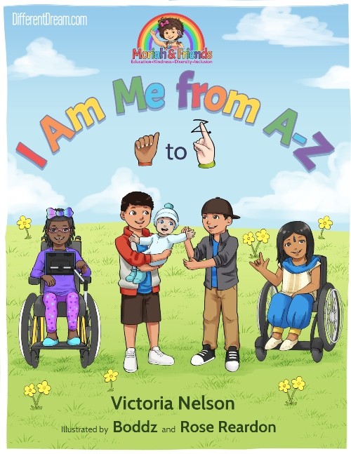 "Moriah and Friends is a new kind of book series for kids. It's latest offering ""I Am Me"" features kids with disabilties and special needs."