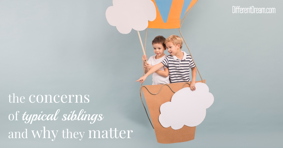 The concerns of siblings of children with special needs can be easily overlooked. This post explains what parents should do instead.