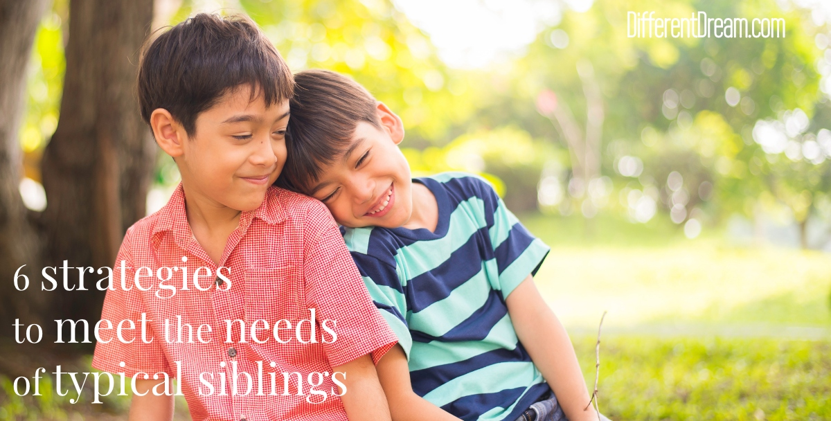 These strategies to meet the needs of typical siblings can make a big difference in the lives of all the children in your caregiving families.