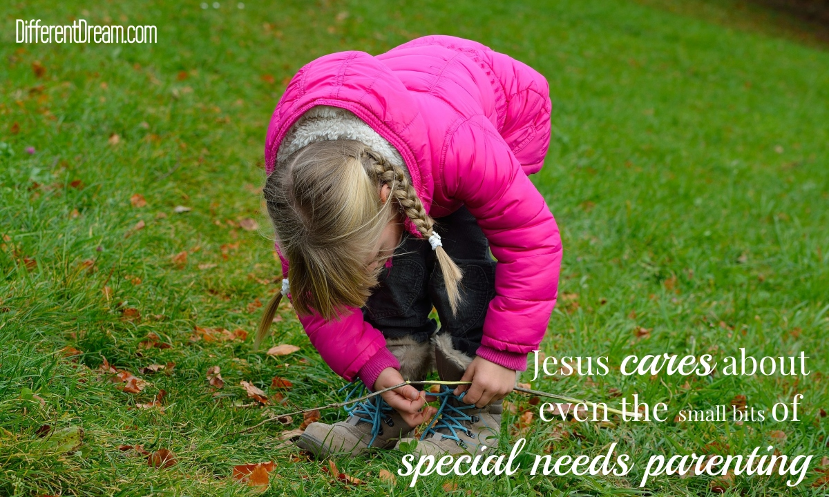 When it comes to raising kids with special needs, caregiving parents can be sure that Jesus cares about the small things.