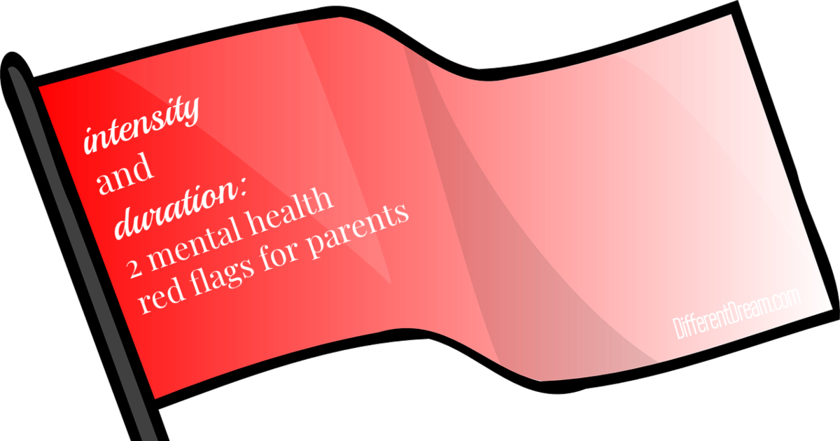 These 2 mental health red flags for caregiving parents can be used to assess whether it's time to seek treatment for either a parent or child.