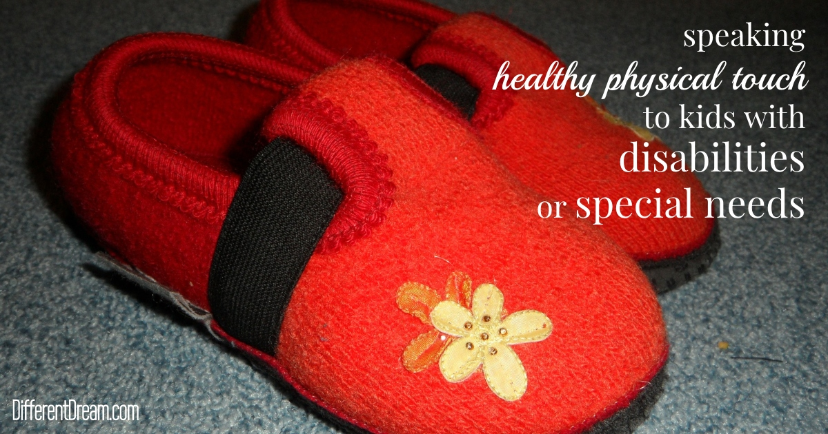 Speaking healthy physical touch to kids with special needs and disabilities can be done in ways surprising to parents and other caregivers.