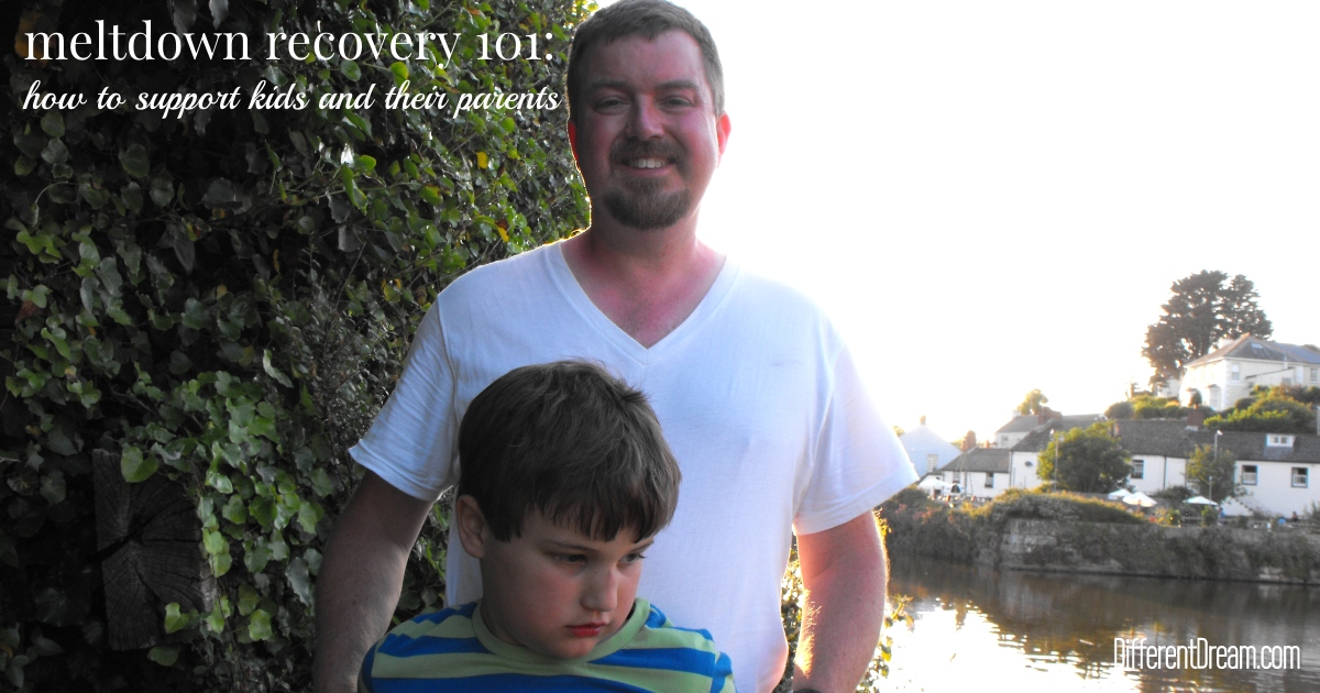 You can begin helping autistic children recover from meltdowns by learning from from one dad's experience as father of a child with autism.
