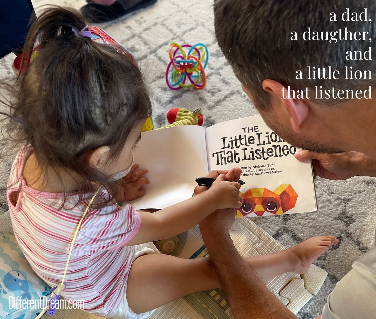 Author Nicolas Tana tells readers about the little girl behind his new children's book, The Little Lion that Listened.